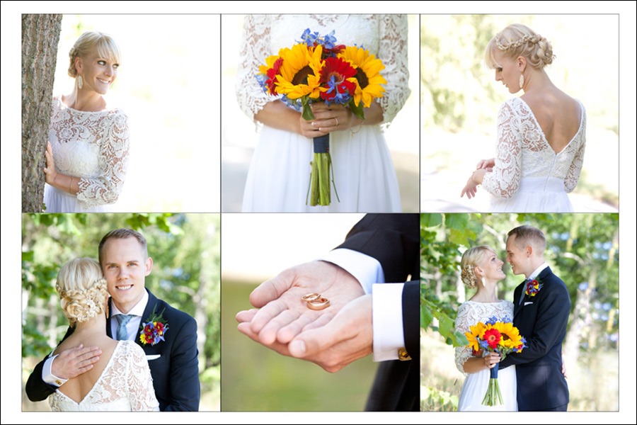 Bröllopscollage