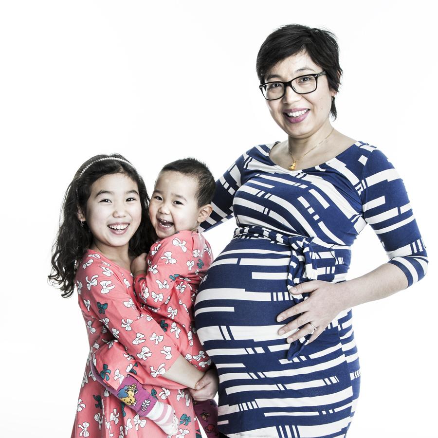 Kombinera Gravid Och Nyfödd-fotografering