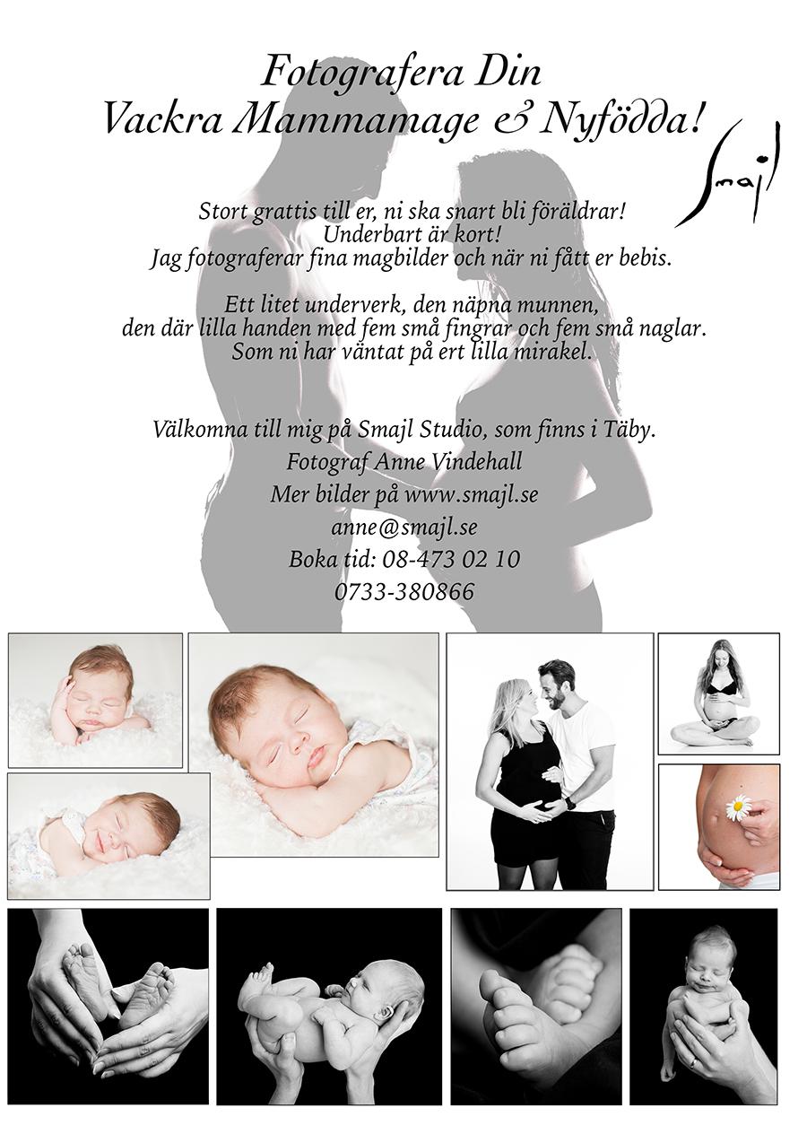 Gravid & Nyföddfotografering Täby